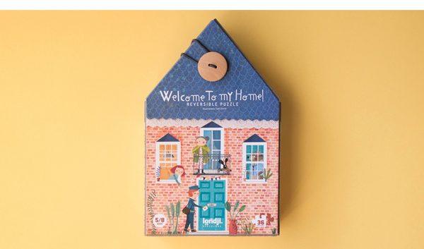 puzzle mi casa para niños. londji. hecho en barcelona