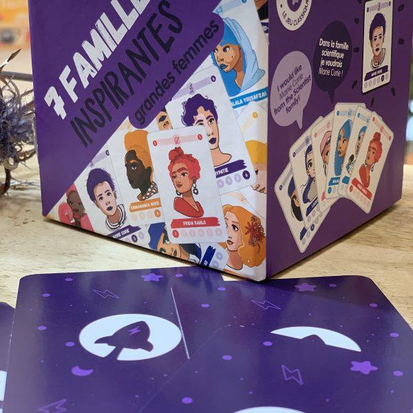 7 familias. mujeres inspiradoras. juguetes para la igualda, mon pettit o, juego de cartas, feminista