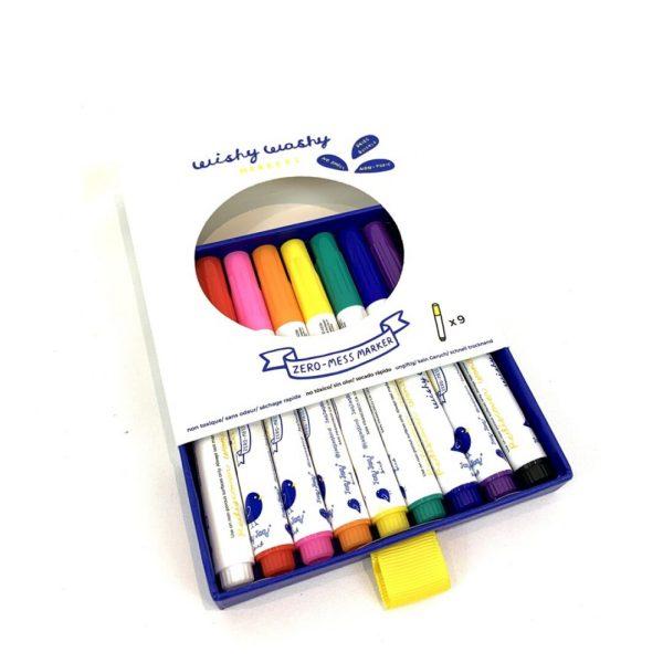 Rotuladores Wishy Washy (9 colores)