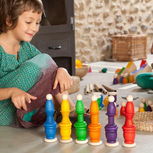 nins, mates y monedas, grapat, Mon Pettit ó, juguetes respetuosos, juguetes sostenibles, material no estructurado