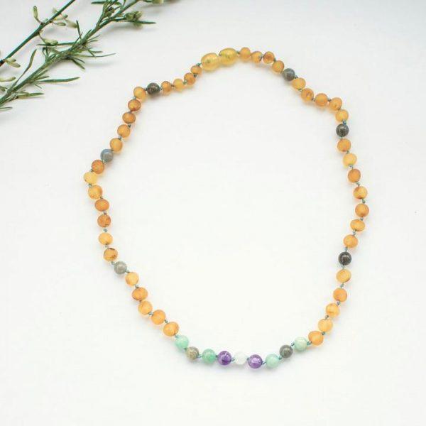 collar elisa aurora joyas naturales, ambar báltico original, mon pettit o